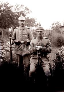 Soldaten mit Pickelhaube