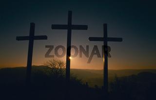 Sonnenaufgang bei der Salmendinger Kapelle