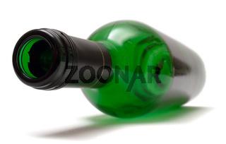 Leere Weinflasche