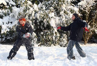 Schneeballschlacht, Snowball battle