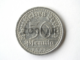 50 Pfennig Deutsches Reich 50 Pfennig German Reich