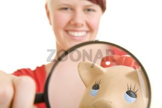 Sparschwein unter der Lupe