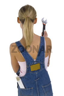 Girl with spanner