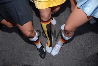 Weibliche Fussballfans
