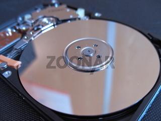 Im Inneren einer Festplatte