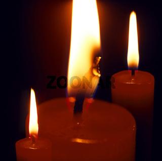 Kerzenflammen