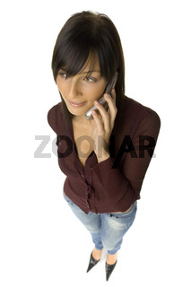 Headshot of woman with mobile phone