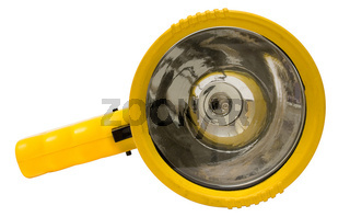 Gelbe Taschenlampe