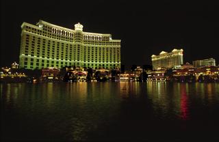 Hotel Bellagio bei Nacht