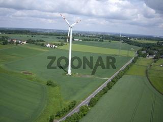 Luftbild Windrad Dortmund