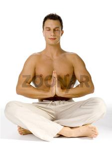 Healthy Lifestyle - Yoga (eyes closed)