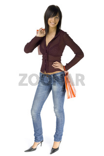 Happy female customer
