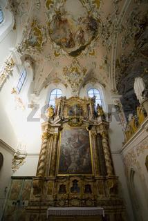 Kirchenschiff der Kirche von Kloster Rottenbuch