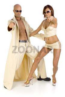 Couple in beige