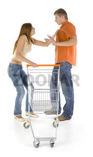 Quarreling couple