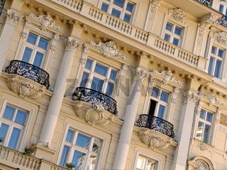 Hausfassade in Karlsbad