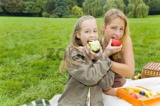 Apfel teilen
