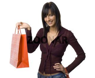 Happy female buyer