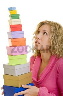 Geschenke balancieren