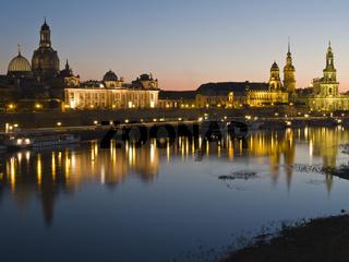 Dresden bei Nacht   Dresden at Night