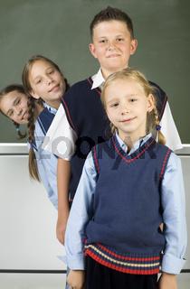 Line of pupils