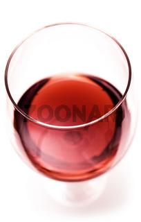 Rotweinglas Draufsicht