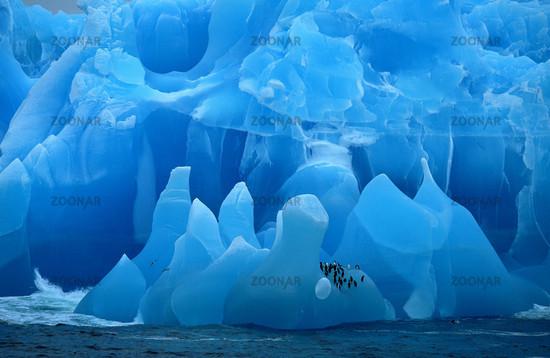 Blue Iceberg in the antarctic Sea