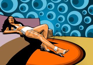 Lady in der Lounge