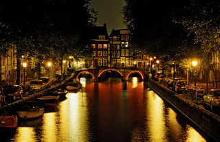 Keizersgracht at night, The Netherlands, Holland, Amsterdam