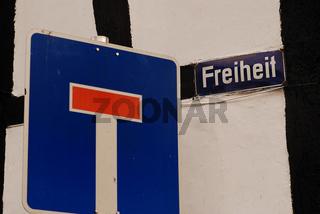 Sackgasse Freiheit / dead end freedom