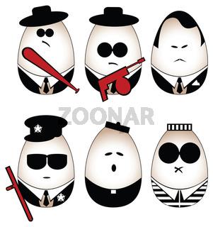 Eggs figure (mafia, offender, policeman, divine, p