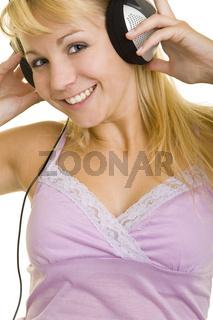 Springen beim Musikhören