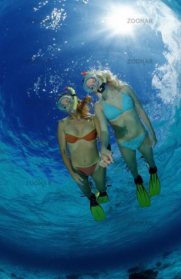 Two snorkeling girls