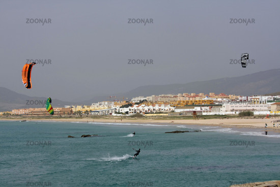 Kite Surfing in Tarifa. Andalusia