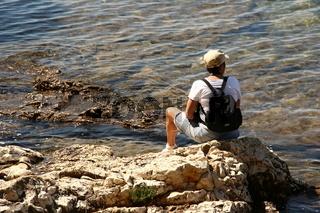 Ruhe Pause am Meer