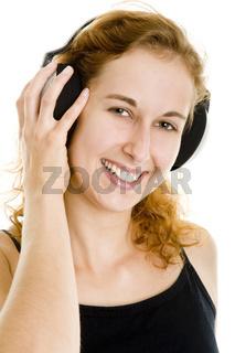 Hand am Kopfhörer