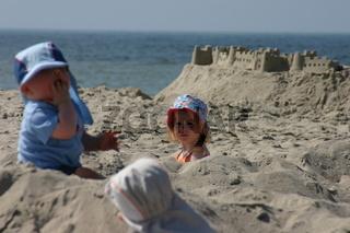 Sandburg mit Kindern