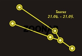 Sign of the zodiac taurus