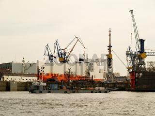 Reparatur in der Werft, Hamburg