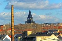 Blick auf die Lutherkirche in Chemnitz