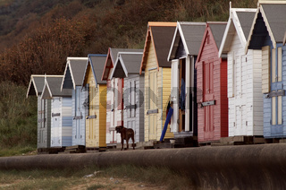 Strandhäuschen in Norfolk/England