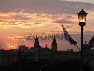 Sonnenuntergang in Valetta