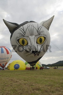 hot air balloon, heissluftballon, balloon flight, ballonfahrt, Katzenaugen