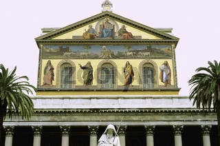 San Paolo fuori le mura basilica Saint Paul outside walls basilique Rome Italy, Basilica of St Paul Outside the Walls, Rome