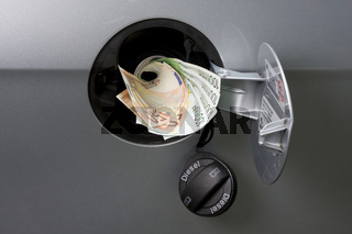 putting money directly in the tank as a protest to high gas prices