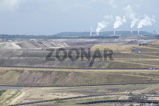 Brown coal open-cast mining