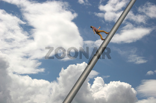 Man walking to the Sky
