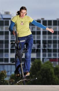 Monika Hinz BMX Flatland Hitchhiker