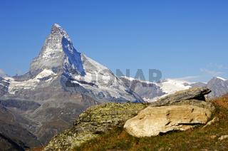 Gipfel des Matterhorn, Zermatt, Wallis, Schweiz