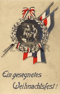 Weihnachtskarte von 1916 (erster Weltkrieg)